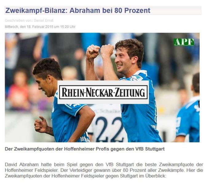 Rhein-Neckar-Zeitung - 18.02.2015